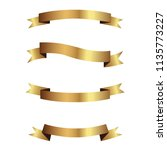 set of golden ribbons vector.   Shutterstock .eps vector #1135773227