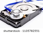 close up computer hard disk and ... | Shutterstock . vector #1135782551