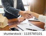 house developers agent or...   Shutterstock . vector #1135785101
