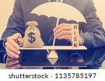 financial risk assessment  ... | Shutterstock . vector #1135785197