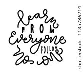 learn from everyone follow no... | Shutterstock .eps vector #1135786214