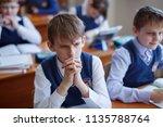 primary school students think... | Shutterstock . vector #1135788764