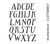 vector uppercase alphabet.... | Shutterstock .eps vector #1135788857