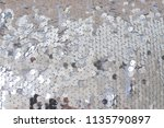 sequins fabric. silver shiny... | Shutterstock . vector #1135790897