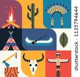 native american indian set....   Shutterstock .eps vector #1135794644