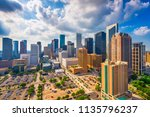 houston  texas  usa skyline | Shutterstock . vector #1135796237