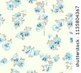 seamless ditsy pattern in small ... | Shutterstock . vector #1135804367