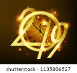 2019 happy new year background... | Shutterstock .eps vector #1135806527