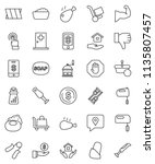 thin line vector icon set  ... | Shutterstock .eps vector #1135807457