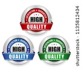 three high quality badges with... | Shutterstock .eps vector #1135812434