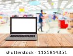 computer on the table  blur... | Shutterstock . vector #1135814351