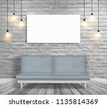 vector mock up sofa and... | Shutterstock .eps vector #1135814369