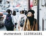 kyoto tourism and women | Shutterstock . vector #1135816181