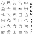 thin line vector icon set  ... | Shutterstock .eps vector #1135818251