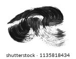 brush stroke and texture. smear ... | Shutterstock . vector #1135818434