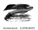 brush stroke and texture. smear ...   Shutterstock . vector #1135818491