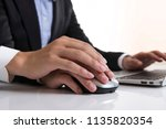 harassment and boss | Shutterstock . vector #1135820354