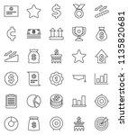 thin line vector icon set  ... | Shutterstock .eps vector #1135820681