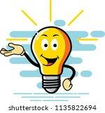 bulb character presentation... | Shutterstock .eps vector #1135822694