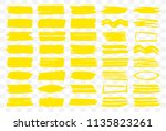 vector set of yellow... | Shutterstock .eps vector #1135823261