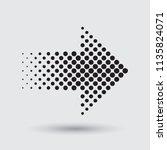 vector halftone arrow.dots... | Shutterstock .eps vector #1135824071