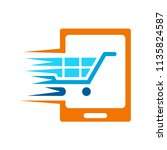phone shopping logo  modern... | Shutterstock .eps vector #1135824587