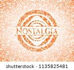 nostalgia abstract emblem ... | Shutterstock .eps vector #1135825481