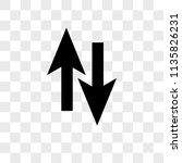 up arrow opposite to down...   Shutterstock .eps vector #1135826231
