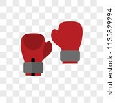 boxing vector icon on... | Shutterstock .eps vector #1135829294
