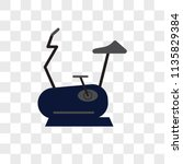 stationary bike vector icon on... | Shutterstock .eps vector #1135829384