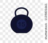 dumbbell vector icon on... | Shutterstock .eps vector #1135831661