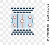 hockey pitch vector icon on...   Shutterstock .eps vector #1135831721