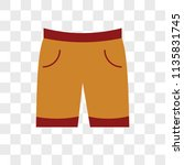 shorts vector icon on... | Shutterstock .eps vector #1135831745