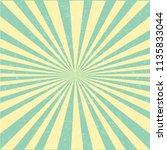 retro sunburst poster with... | Shutterstock .eps vector #1135833044