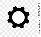 settings vector icon on... | Shutterstock .eps vector #1135834991