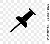 push pin vector icon on...   Shutterstock .eps vector #1135841021