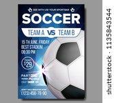 soccer poster. banner... | Shutterstock . vector #1135843544