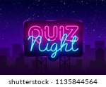 quiz night announcement poster... | Shutterstock .eps vector #1135844564