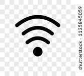 wifi medium strength vector... | Shutterstock .eps vector #1135845059