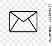 email envelope outline vector... | Shutterstock .eps vector #1135845197