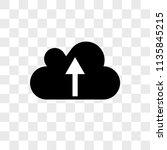 cloud upload vector icon on... | Shutterstock .eps vector #1135845215
