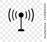 antenna with vector icon on... | Shutterstock .eps vector #1135845224