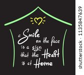 a smile on the face is a sign... | Shutterstock .eps vector #1135847639