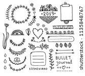 bullet journal hand drawn...   Shutterstock .eps vector #1135848767