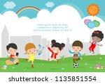 playground.children in the... | Shutterstock .eps vector #1135851554