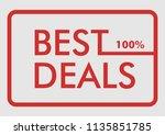 best deals   100  | Shutterstock .eps vector #1135851785