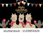 merry christmas greeting card... | Shutterstock .eps vector #1135853324