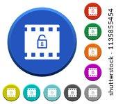 decode movie round color... | Shutterstock .eps vector #1135855454