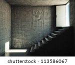 Interior Room With Concrete...