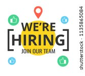 we are hiring poster or banner... | Shutterstock .eps vector #1135865084